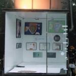 Die Ausstellung der Kunstwerke im temp. artmobil